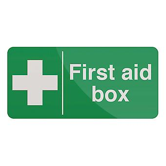 Signe de boîte de premiers soins - 200x100mm auto-adhésif