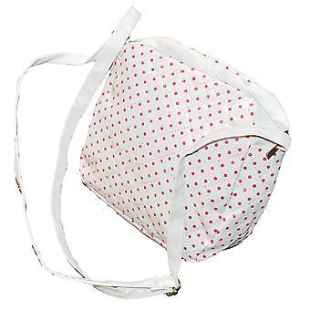 Lasten laukku valkoinen vaaleanpunainen pisteitä