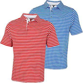 Bobby Jones Mens XH20 Banner Frame Stripe Jersey Golf Polo Shirt