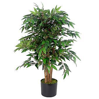 90cm Luxury Smilax Sarsaparilla Artificial Ficus Tree - Premium Range