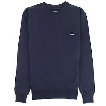 Vivienne Westwood sweater met ronde hals en logo Navy