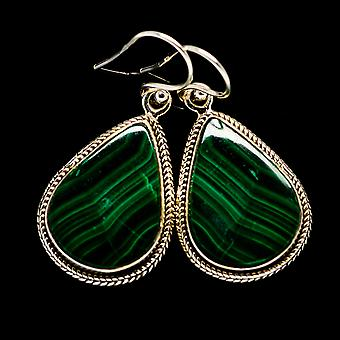 Malachite Earrings 1 1/2