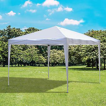 Outsunny 3 x 3M Garden Heavy Duty Pop Up Gazebo Marquee Party Tent Wedding Canopy (White) + Carrying Bag