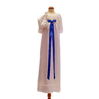 Dopklänning Och Dophätta I Off White, Turkos Rosett. Grace Of Sweden