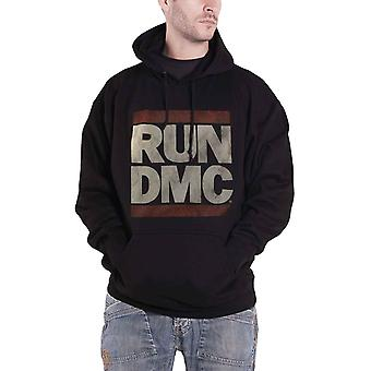 Run DMC Hoodie classic band Logo new Official Mens Black Pullover