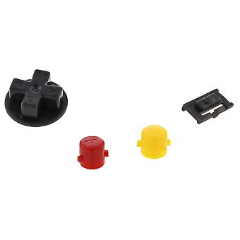 Button set for game boy advance nintendo gba agb-001 a b d-pad power switch set - multi colour | zedlabz