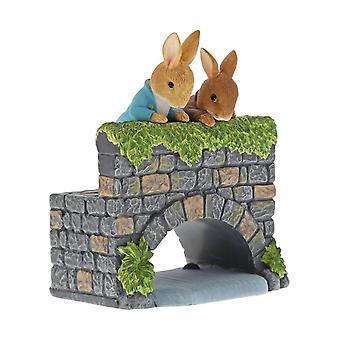 Beatrix Potter Peter Rabbit & Benjamin Bunny sillan Figurine