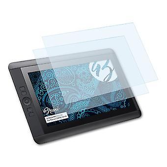 Bruni 2x Schutzfolie kompatibel mit Wacom CINTIQ 13 HD Folie