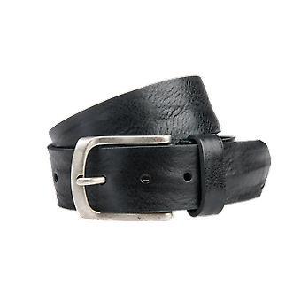 Zwarte Vintage Jeansriem - 40 Mm Breed