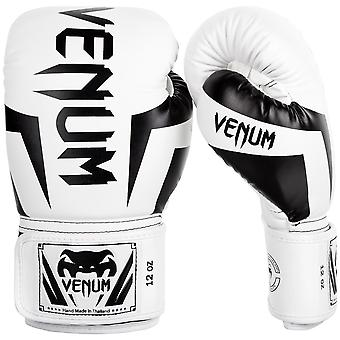 Venum Elite Boxing Gloves White/Black