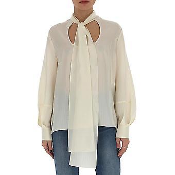 Chloé Chc20uht25307117 Women's White Silk Blouse
