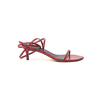 Isabel Marant Sd050920p029s70rd Women's Red Leather Sandals