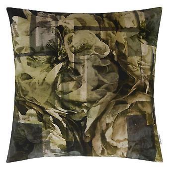 Designers Guild Fleur Nouveau Abstract Cushion In Birch Grey