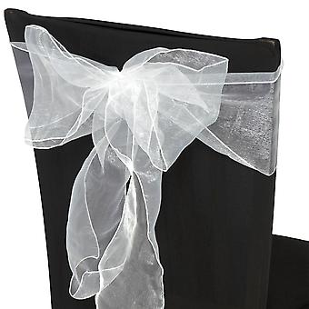 17cm x 274cm Organza Table Runners Wider et Fuller Sashes White