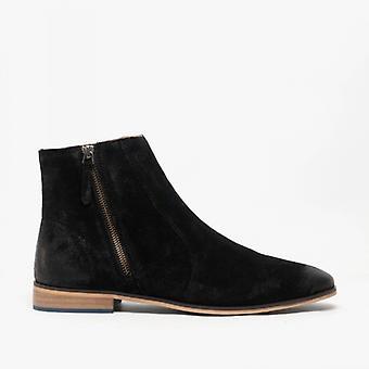 Shuperb Blaze Mens Suede Ankle Boots Black