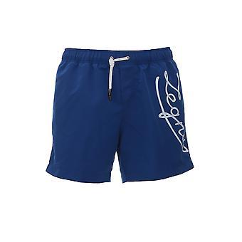 Z Zegna N7b540440422 Men's Blue Polyester Trunks