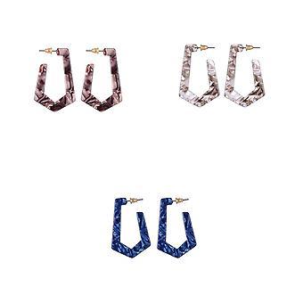 Jewelcity Sunkissed Womens/Ladies Geo Earrings