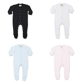 Larkwood Baby Unisex plain s dlhým rukávom Sleepsuit