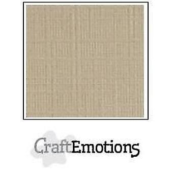 CraftEmotions linen cardboard 10 Sh liver 30,0x30,0cm / LC-80