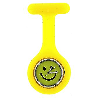 Boxx Yellow Smiley Face Infection Control Gel Professional Fob Watch Boxx106