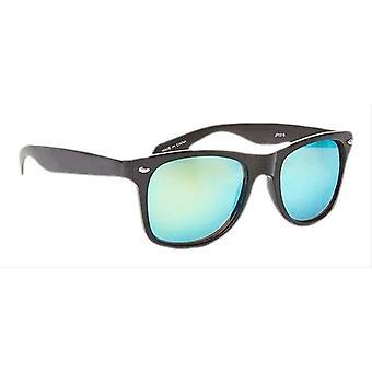 Jeepers Peepers Wayfarer Mirror Sunglasses - Black/Blue