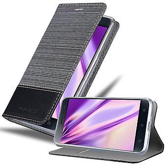 Hülle für Asus ZenFone 3 Klappbare Handyhülle - Cover - mit Standfunktion und Kartenfach
