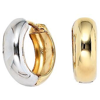 Hoops around 333 gold yellow gold bicolor earrings gold earrings Goldcreolen