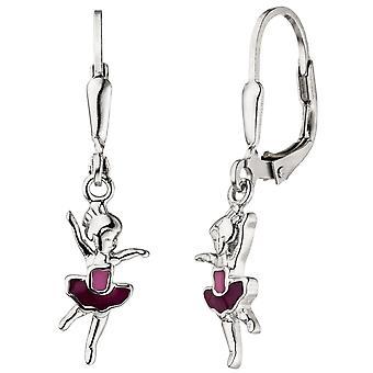Kids earrings ballerina 925 sterling silver earrings Boutons kids earrings