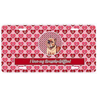 Carolines Treasures LH9134LP Bryssel Griffon Valentine's Kärlek och hjärtan Licen
