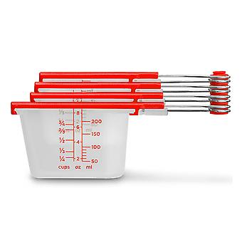 Dreamfarm Levups Measuring Spoons (Red + Clear)