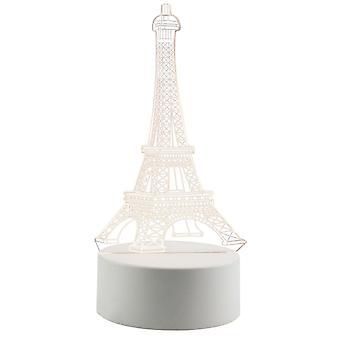 3D LED Lampa - Eiffeltornet