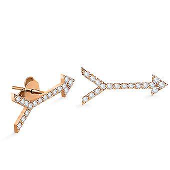 Cercei Diamond Arrow Single 18K Gold
