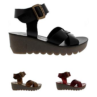 Womens Fly London Yeri Bridle Leather Summer Open Toe Holiday Sandals