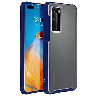 Huawei P40 Pro Bumper Protective Case Reinforced Angles Shockproof- Dark Blue