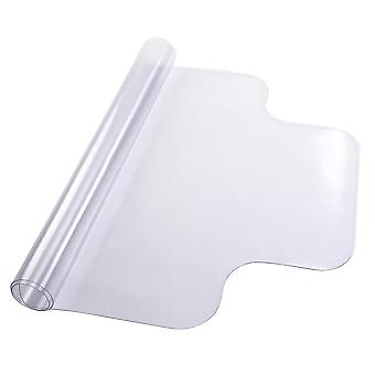 Yescom Office Desk Chair Mat for Hard Wood Floors Clear PVC Floor Mat Protector with Lip 1.5mm Thickness 48