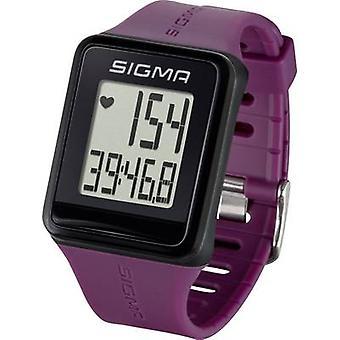 Sigma ID.GO Reloj monitor de frecuencia cardíaca con correa para el pecho Plum
