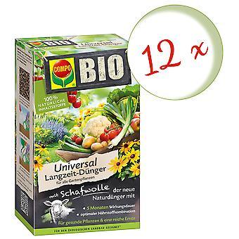 Sparset: 12 x COMPO BIO Universal fertilizante de longo prazo com lã de ovelha, 4 kg