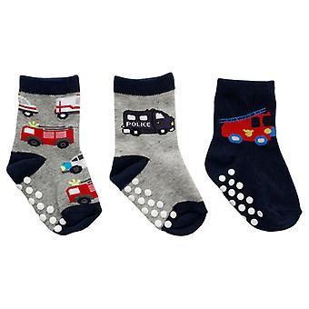 Slip chaussettes 3 paires, 19/21