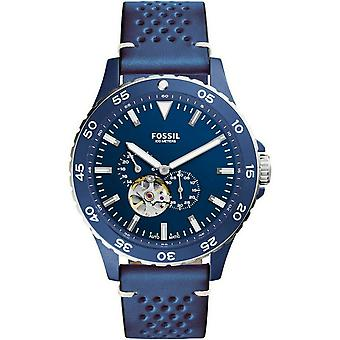 Fossil ME3149 Crewmaster Sport Automatic Blue Leather Men's Watch