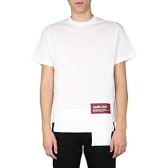 Un'imboscata 12112078whte Uomo's T-shirt in cotone bianco