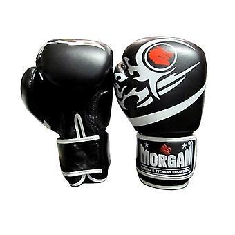 Morgan Elite Boxning och Muay Thai läderhandskar Svart