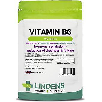 Lindens Vitamin B6 100mg tabletter 100 (52)