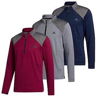 adidas Golf Mens 2020 COLD. Suéter de logotipo do baú esquerdo RDY 1/4 Zip