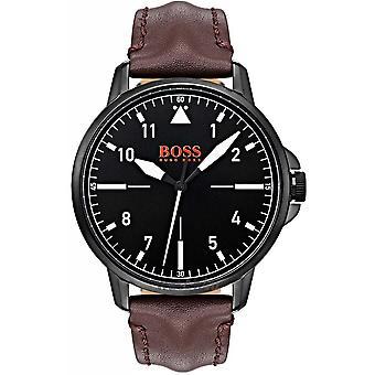 Hugo Boss 1550062 Orange Chicago Brown Leather Strap Men's Watch