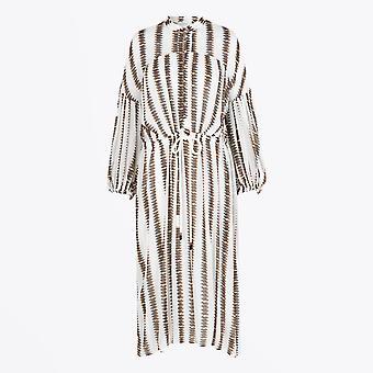 Munthe  - Gold Leaf Printed Dress - Multi