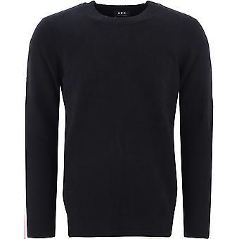 A.p.c. Coehgh23957lzz Men's Black Cotton Sweater
