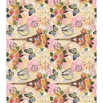 """Craft Consortium Decoupage Papers 13.75""""X15.75"""" 3/Pkg-Paris In Bloom"""