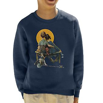 The Saturday Evening Post Norman Rockwell Sunset 1926 Cover Kid's Sweatshirt