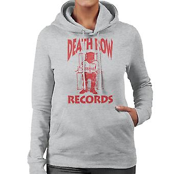 Death Row Records Chair Logo Red Women's Hooded Sweatshirt