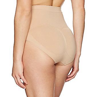 Brand - Arabella Women's Seamless Brief Shapewear with Tummy Control, Nude, Small